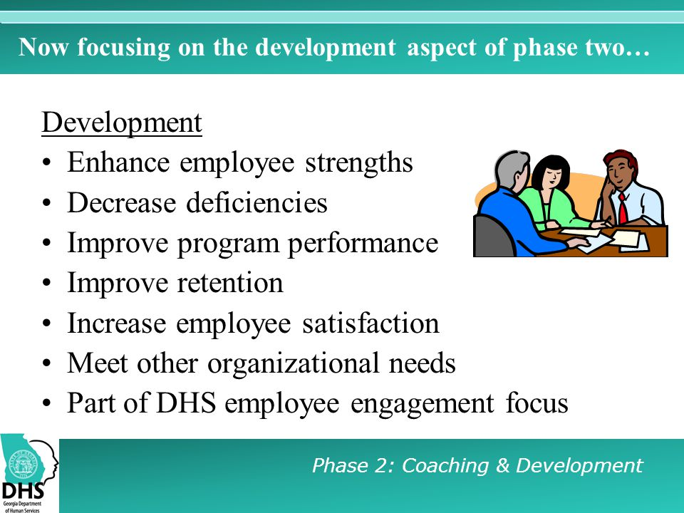 Now focusing on the development aspect of phase two…