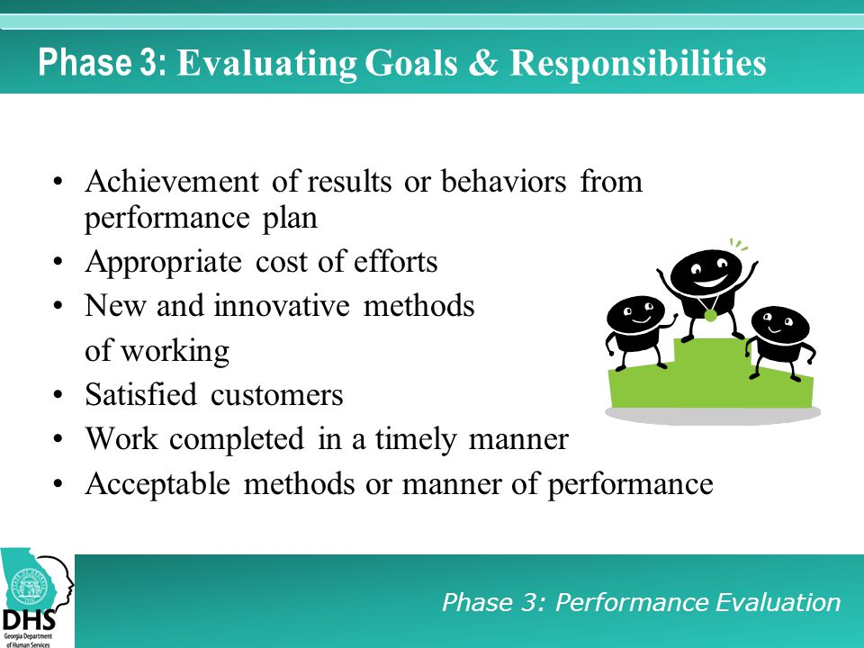 Phase 3: Evaluating Goals & Responsibilities