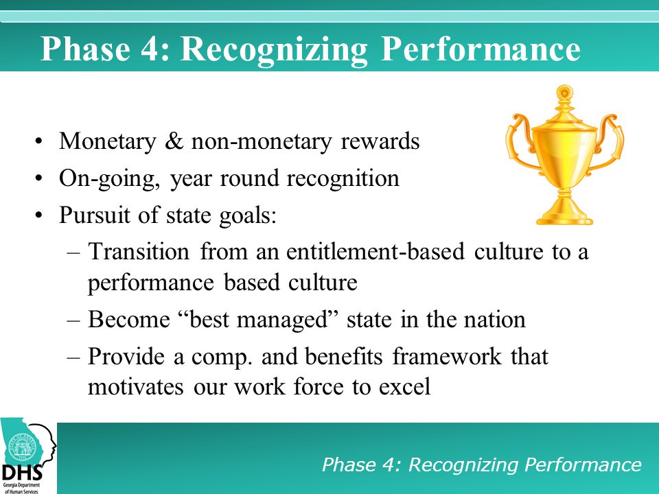Phase 4: Recognizing Performance