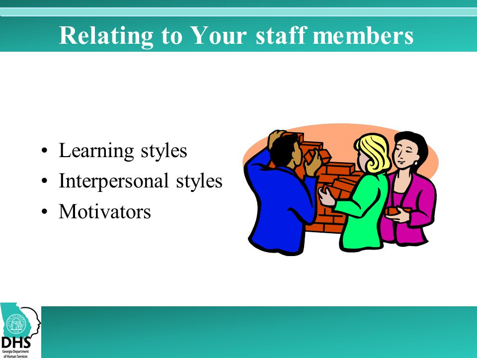 Relating to Your staff members
