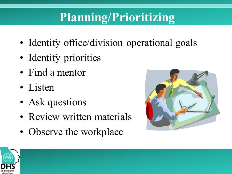 Planning/Prioritizing