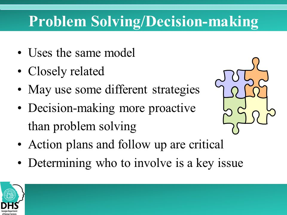 critical thinking decision making skills