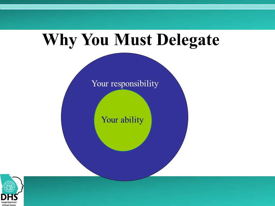 Why You Must Delegate Your responsibility Your ability