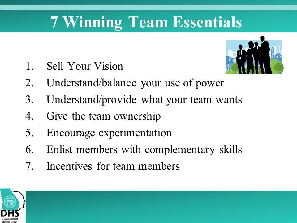 7 Winning Team Essentials