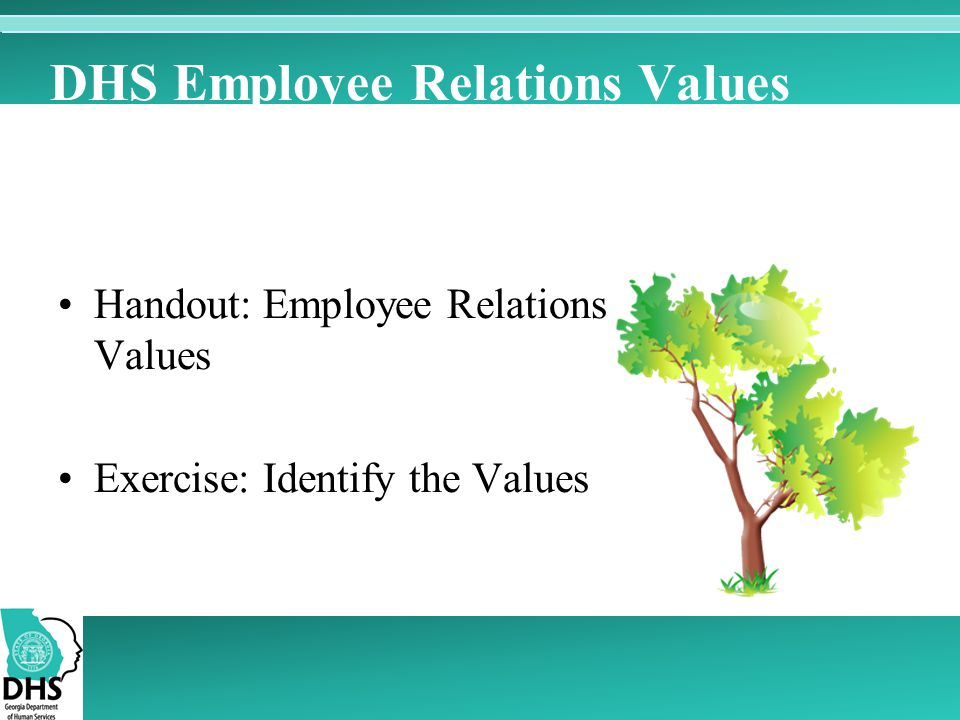 DHS Employee Relations Values