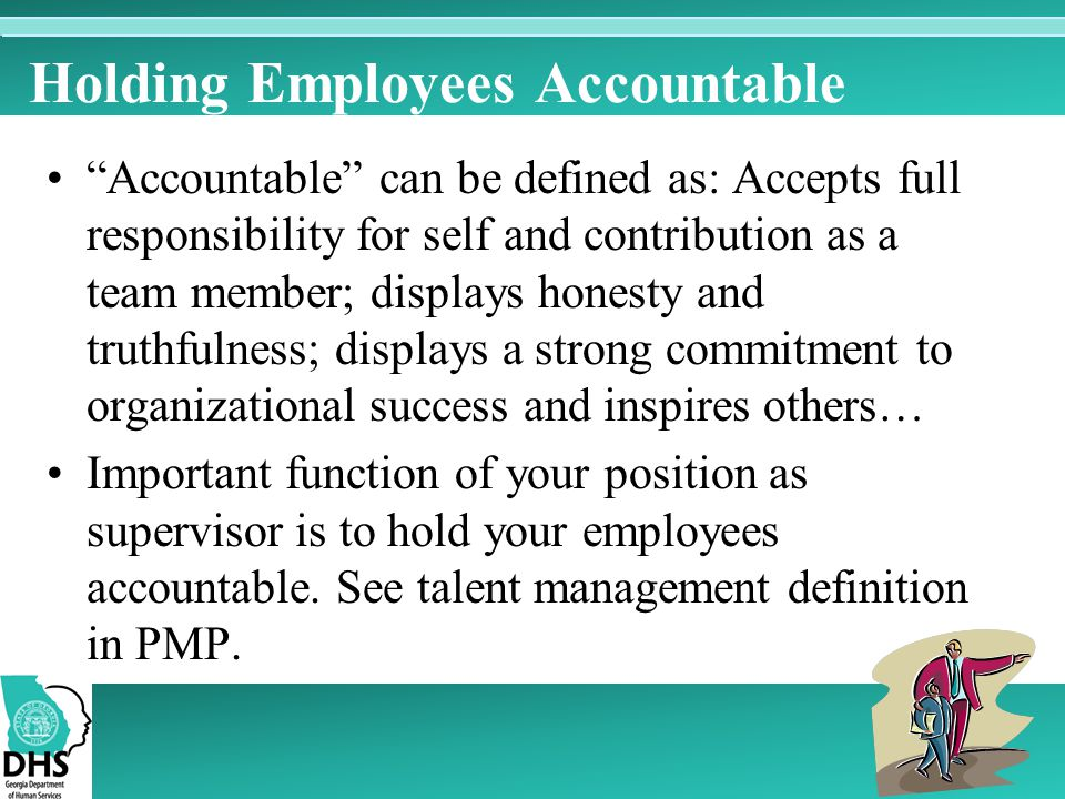 Holding Employees Accountable