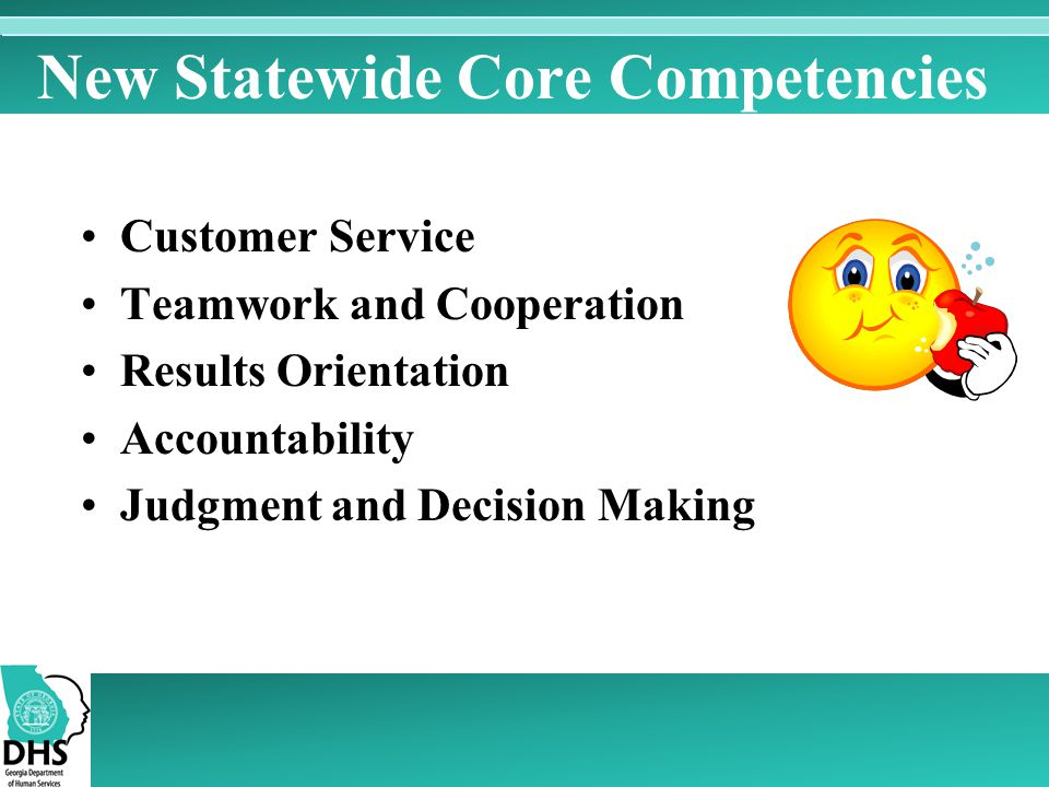 New Statewide Core Competencies