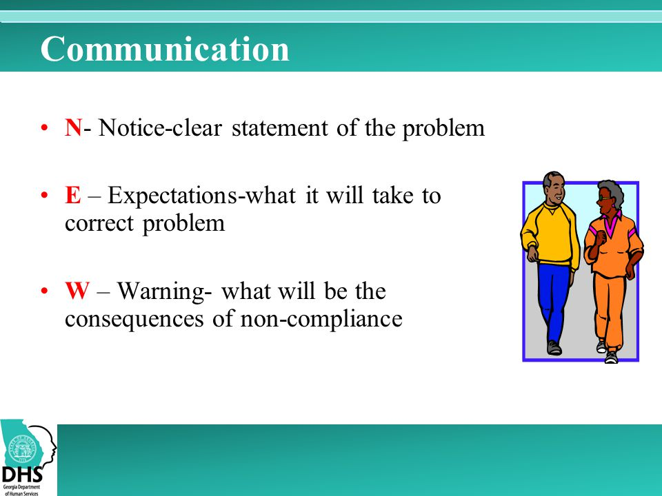Communication N- Notice-clear statement of the problem