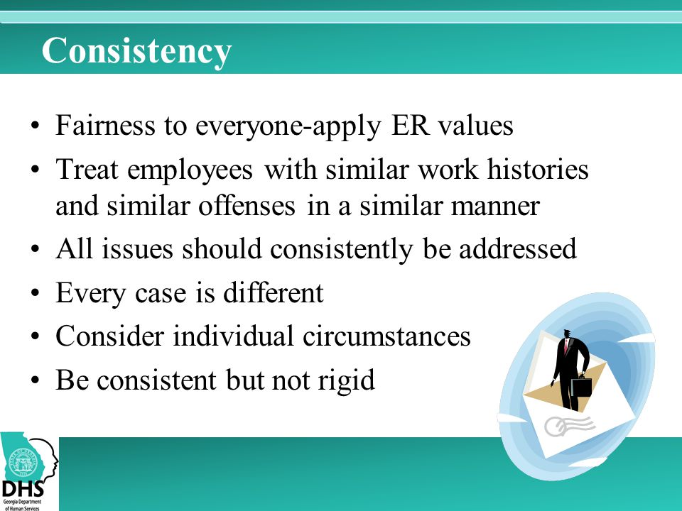 Consistency Fairness to everyone-apply ER values