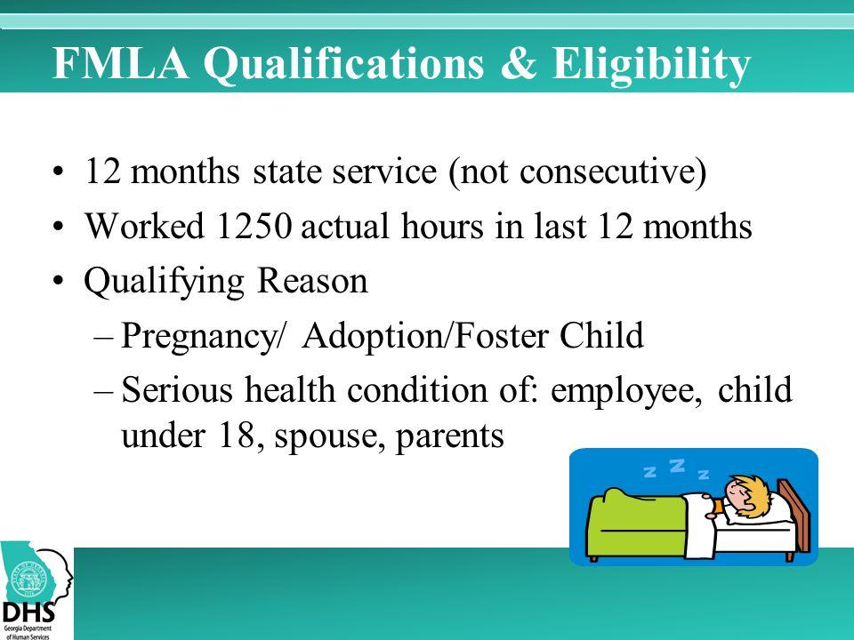 FMLA Qualifications & Eligibility