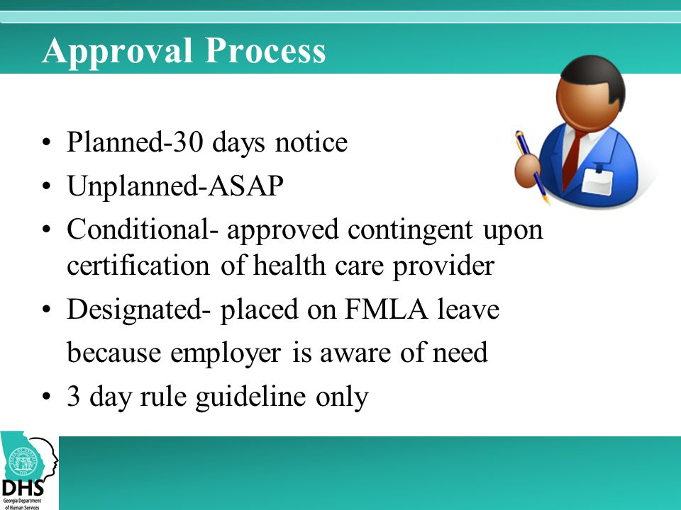 Approval Process Planned-30 days notice Unplanned-ASAP
