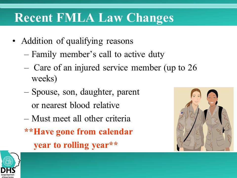 Recent FMLA Law Changes