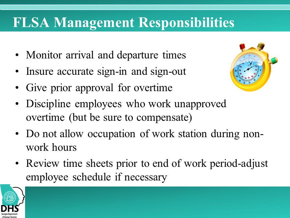 FLSA Management Responsibilities