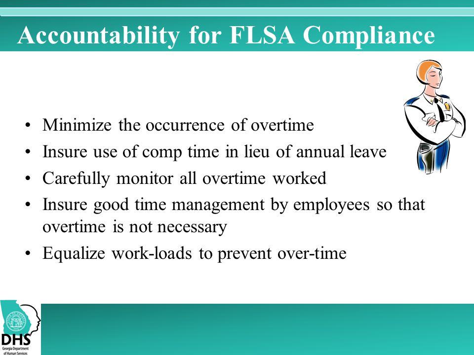 Accountability for FLSA Compliance
