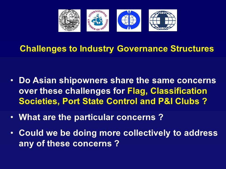 Challenges to Industry Governance Structures