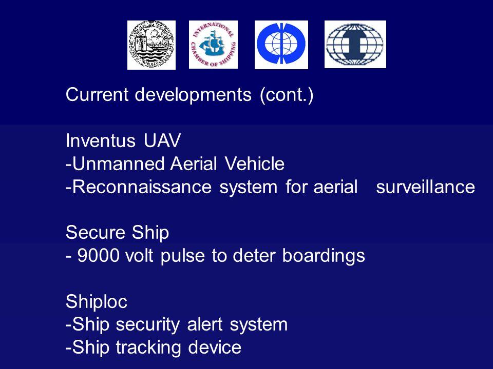 Current developments (cont.)