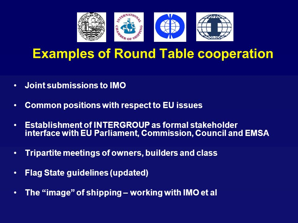 Examples of Round Table cooperation