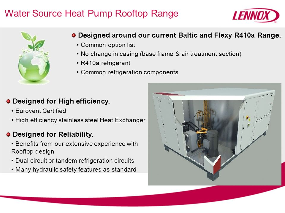 Water Source Heat Pump Rooftop Range