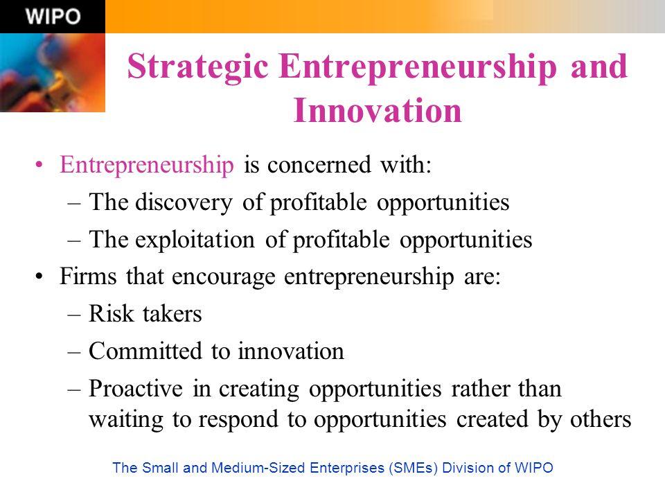 Strategic Entrepreneurship and Innovation