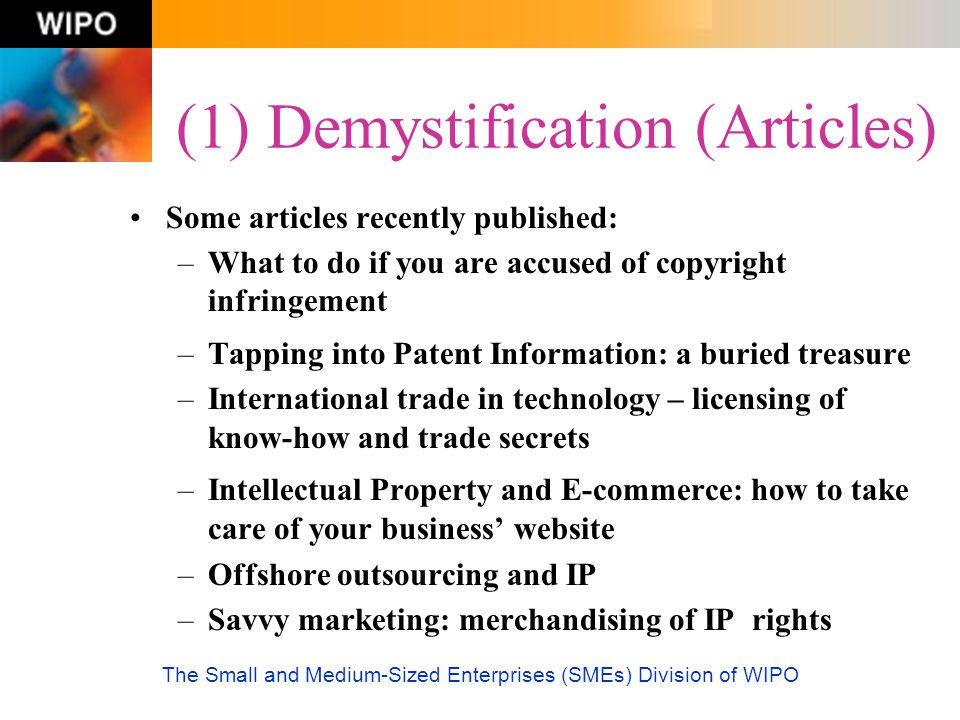 (1) Demystification (Articles)