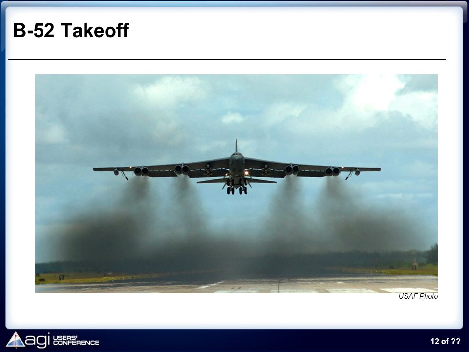 B-52 Takeoff USAF Photo