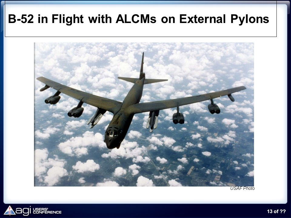 B-52 in Flight with ALCMs on External Pylons