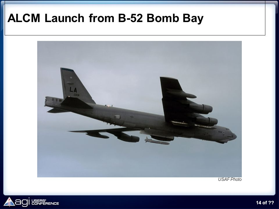 ALCM Launch from B-52 Bomb Bay