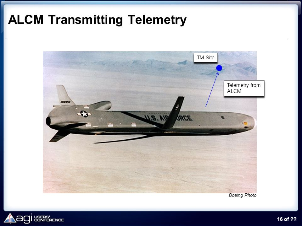 ALCM Transmitting Telemetry