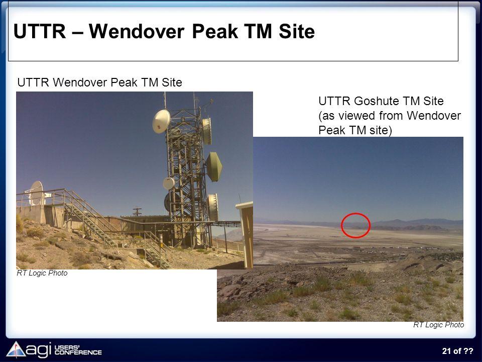 UTTR – Wendover Peak TM Site