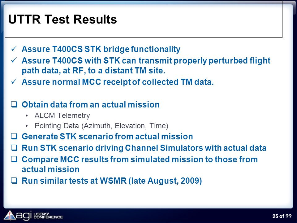 UTTR Test Results Assure T400CS STK bridge functionality