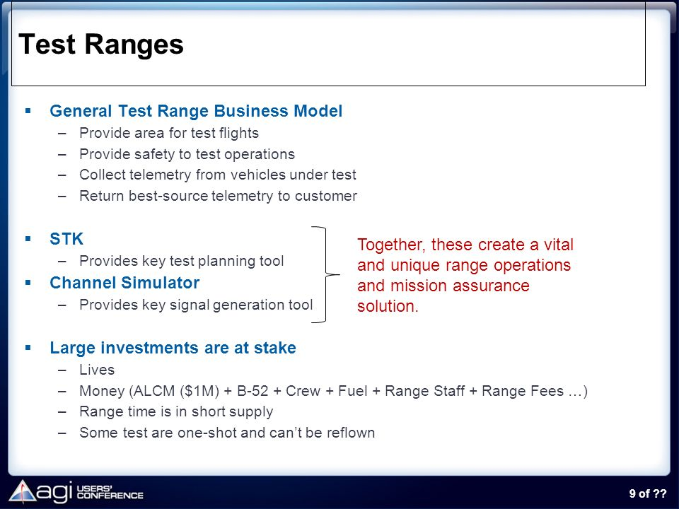 Test Ranges General Test Range Business Model STK Channel Simulator