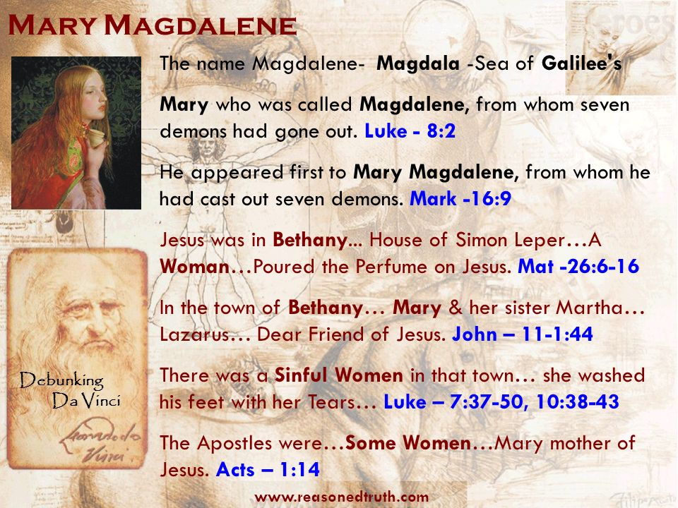 Mary Magdalene The name Magdalene- Magdala -Sea of Galilee s
