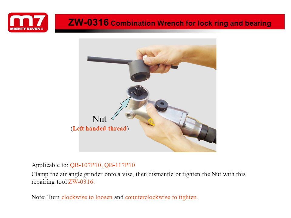 ZW-0316 Combination Wrench for lock ring and bearing