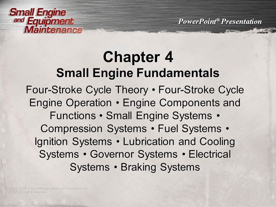 Small Engine Fundamentals