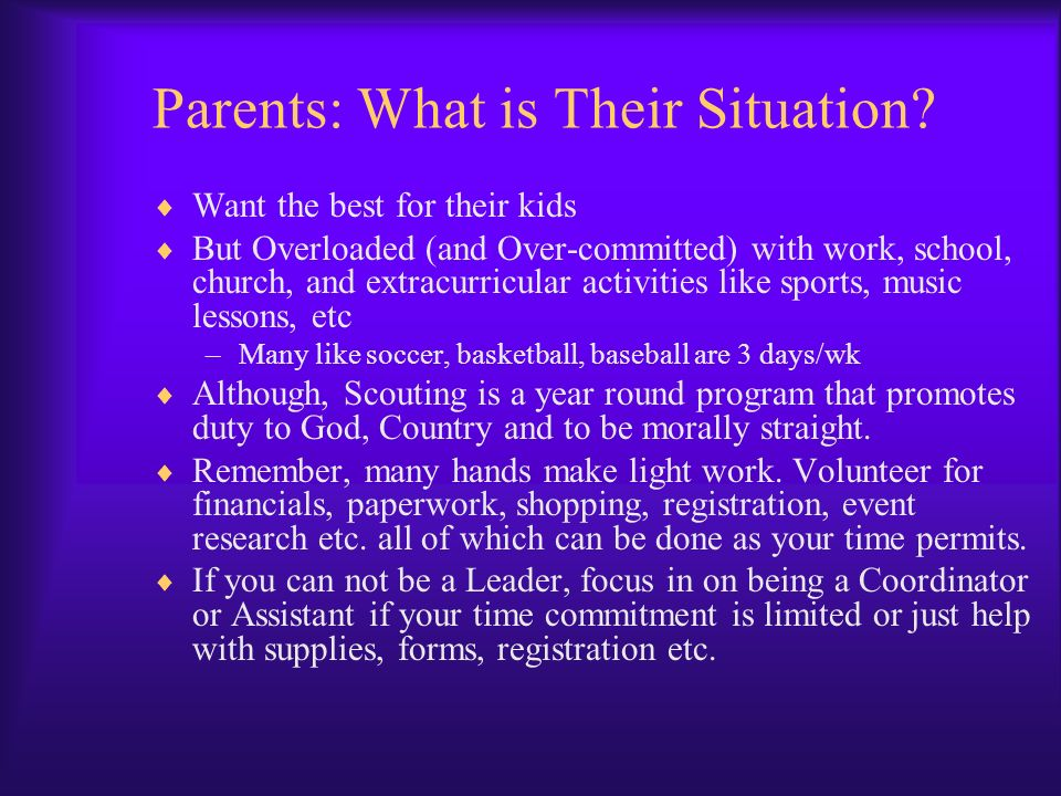 Parents: What is Their Situation
