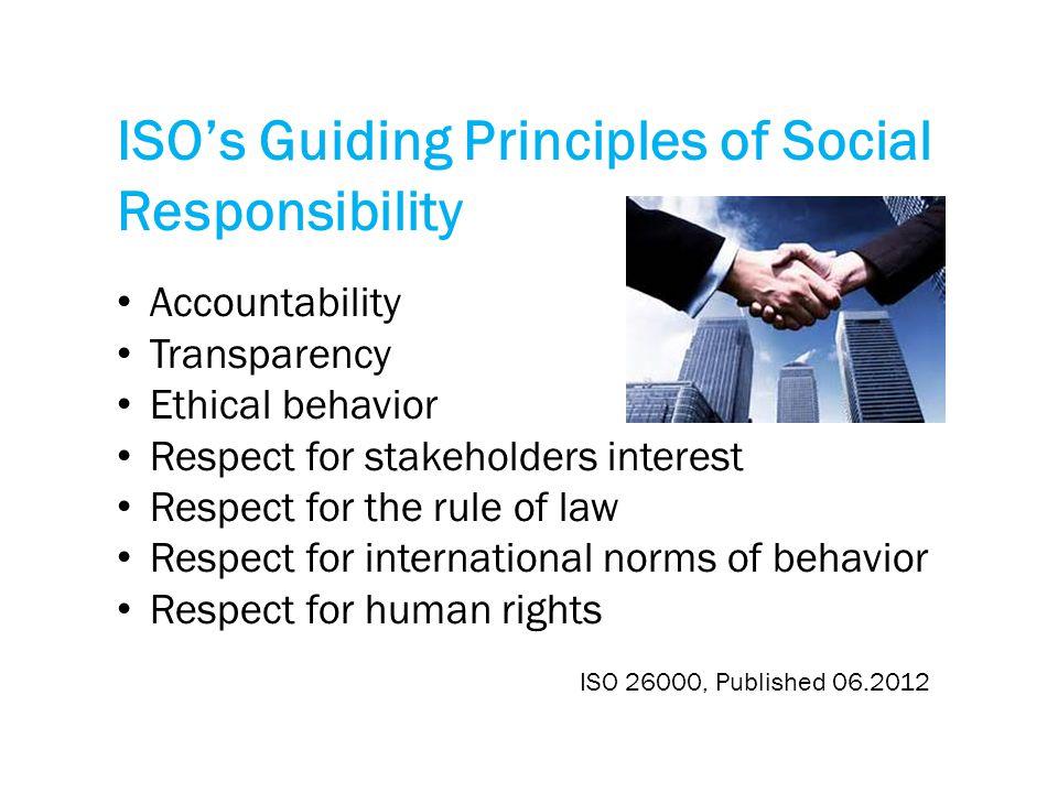 ISO's Guiding Principles of Social Responsibility