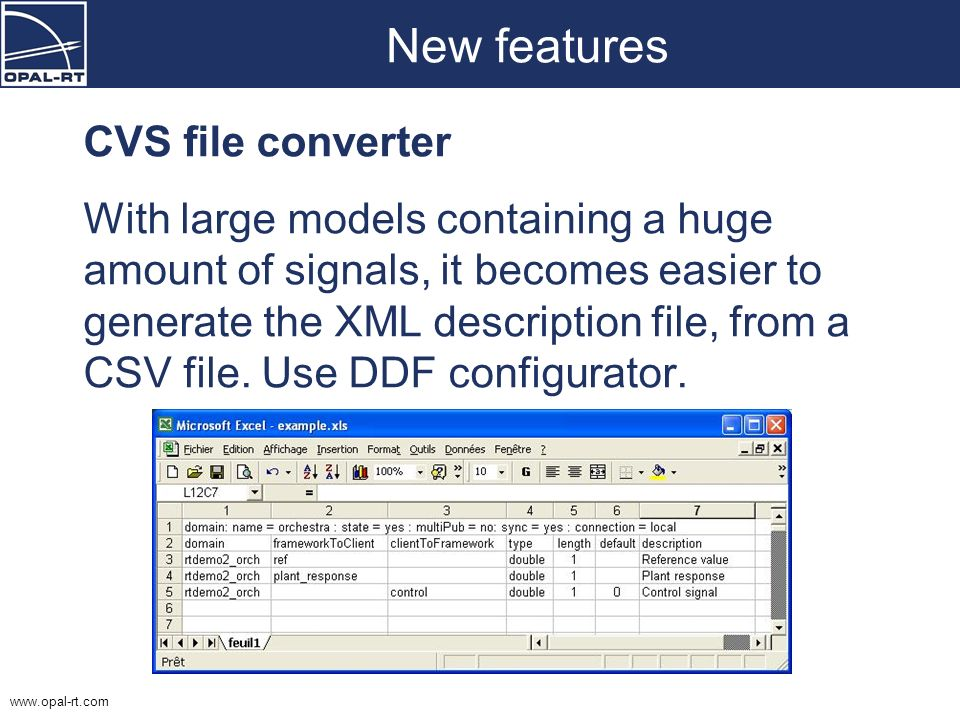 New features CVS file converter