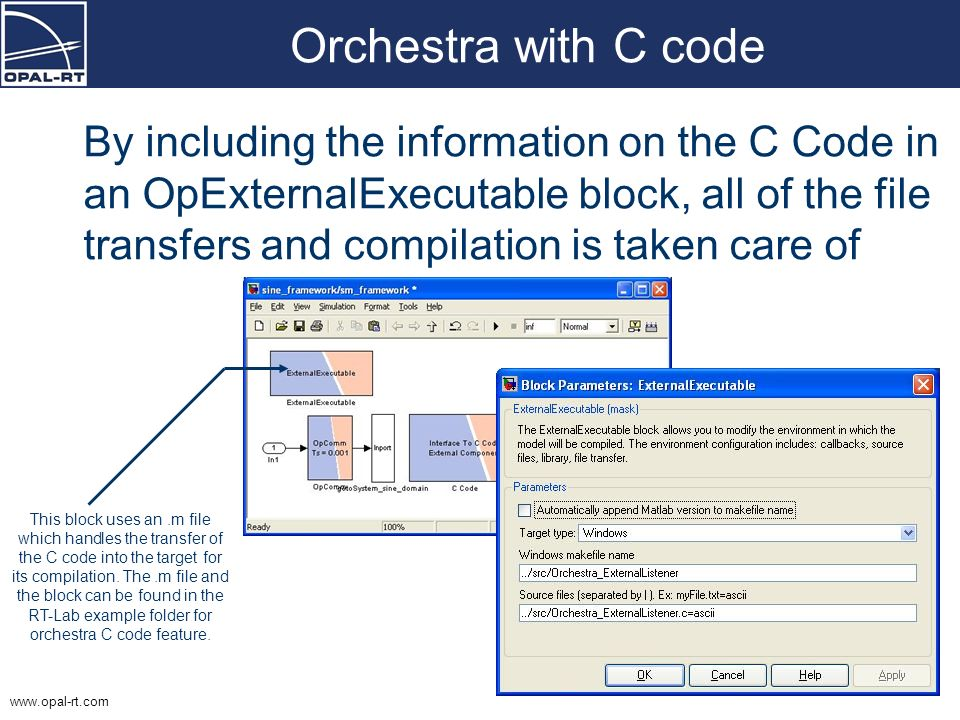 Orchestra with C code