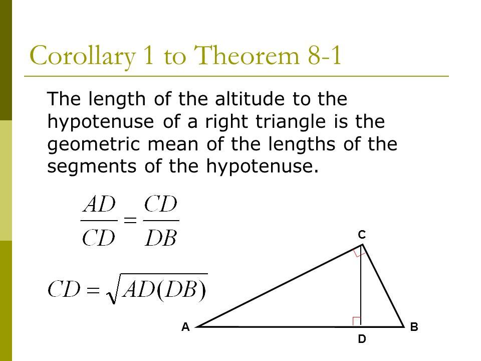 Corollary 1 to Theorem 8-1