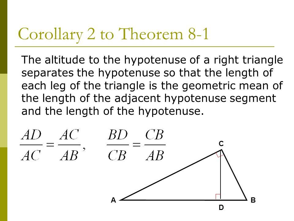 Corollary 2 to Theorem 8-1