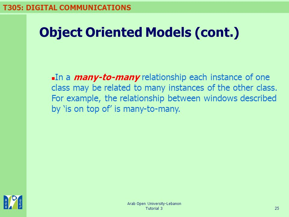Object Oriented Models (cont.)