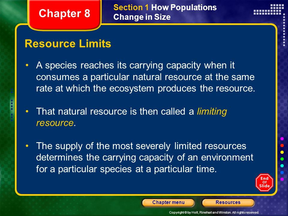 Chapter 8 Resource Limits