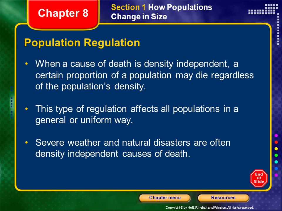 Population Regulation