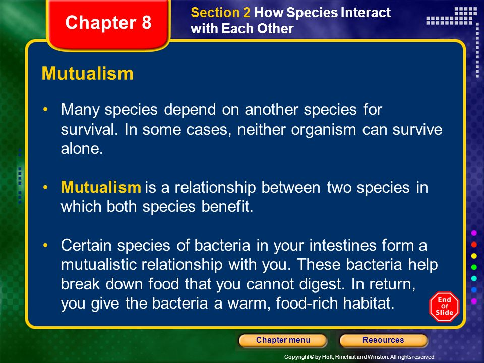 Section 2 How Species Interact with Each Other