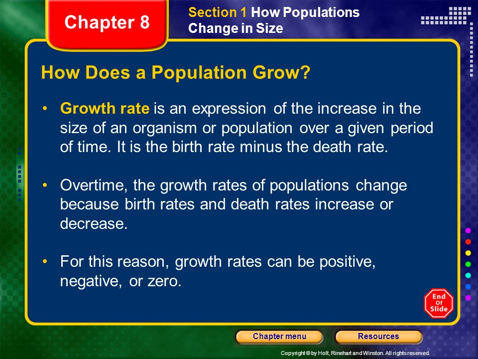 How Does a Population Grow
