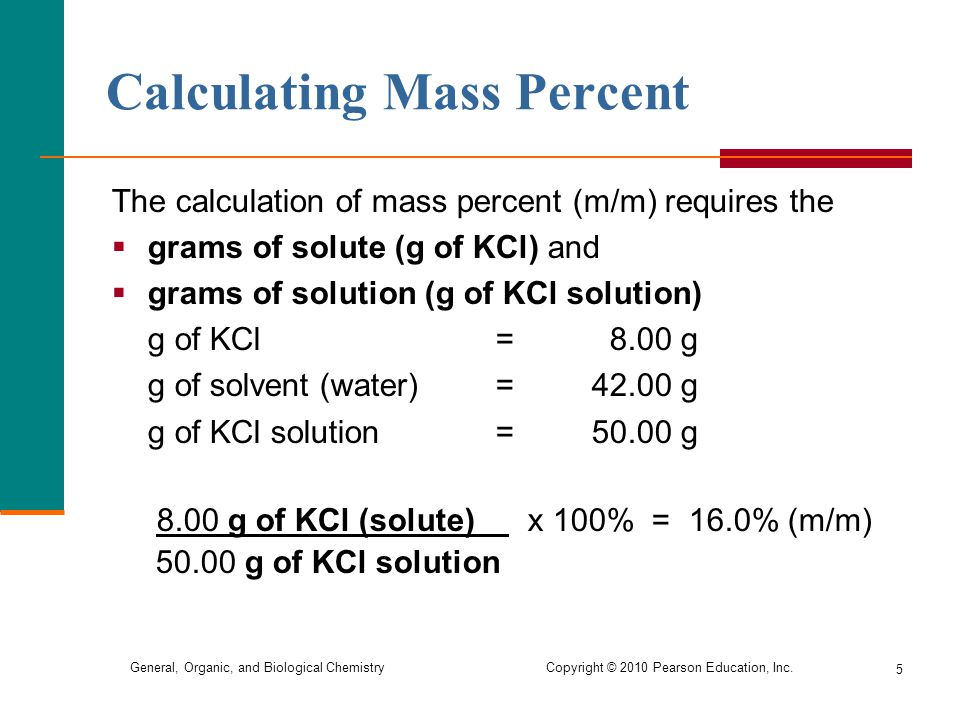 Calculating Mass Percent