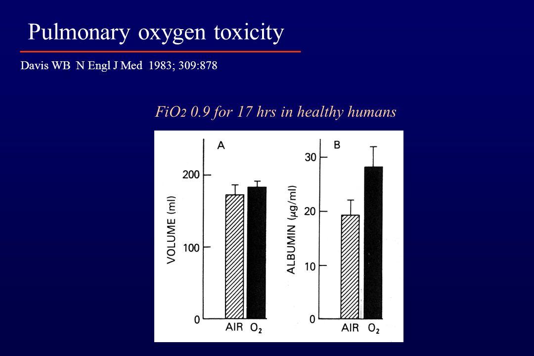 Pulmonary oxygen toxicity