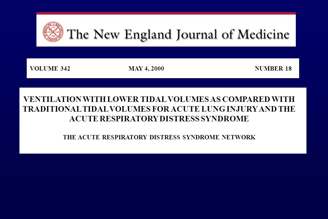 THE ACUTE RESPIRATORY DISTRESS SYNDROME NETWORK