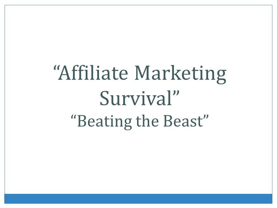 Affiliate Marketing Survival