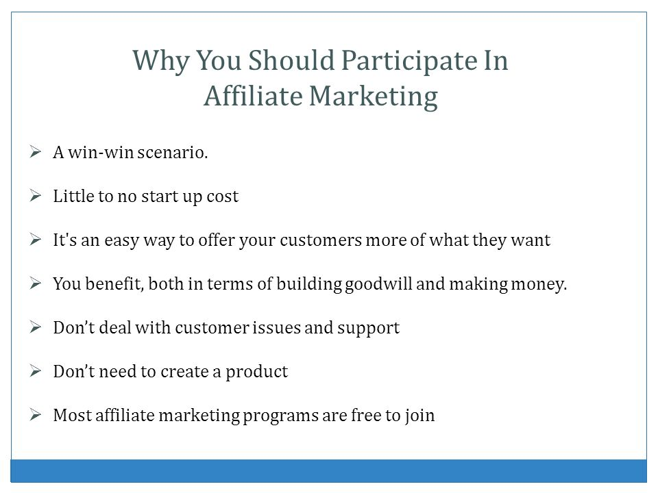 Why You Should Participate In Affiliate Marketing
